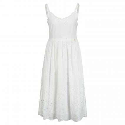 Kleid mit Lochspitze weiss (100 white) | 36
