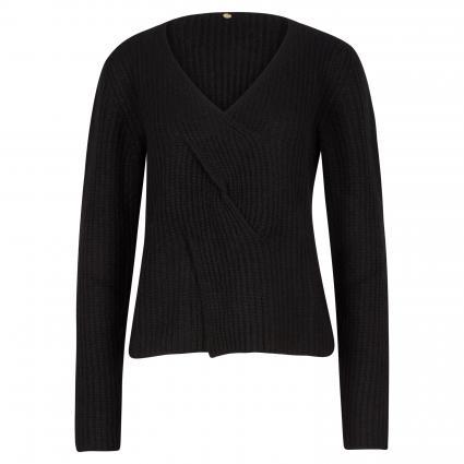 Pullover mit V-Ausschnitt schwarz (890 black) | L