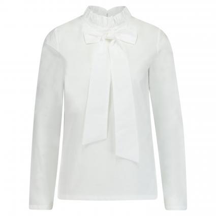 Bluse mit Rüschen und Schleifendetail weiss (100 white) | S