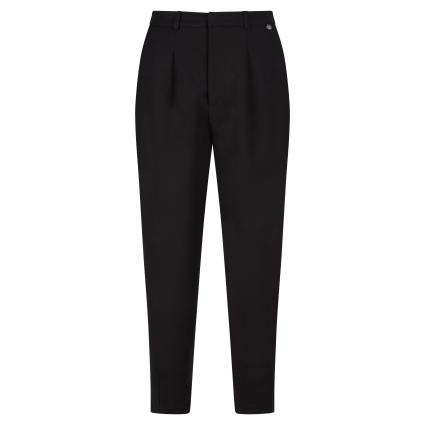 Weite Hose in 7/8 Länge  schwarz (890 black) | 34