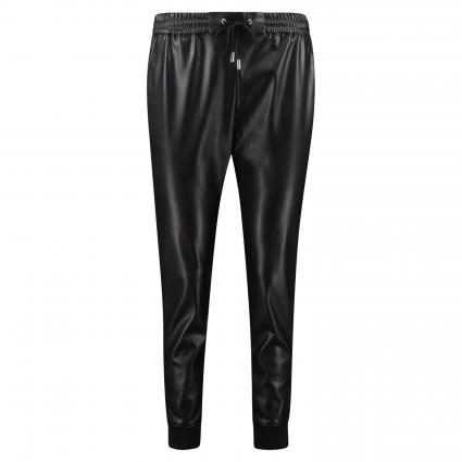 Joggpants in Leder-Optik schwarz (890 black) | 42
