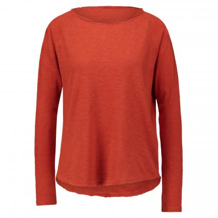 Langarmshirt im Used-Look rot (578 rusty red) | XS