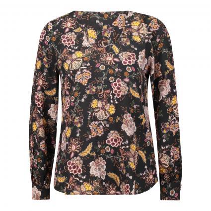 Bluse mit floraler Musterung schwarz (890 black) | 34