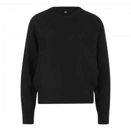 Pullover mit Schimmer-Finish schwarz (890 black) | M