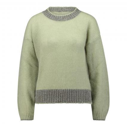 Pullover mit Glitzer Details  grün (410 matcha) | S