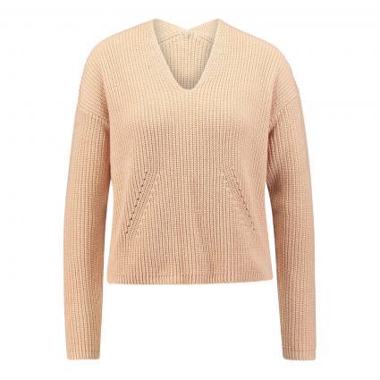 Pullover mit V-Ausschnitt  orange (538 peach) | S