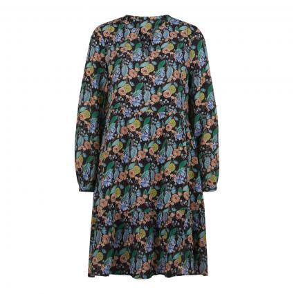 Kleid mit floraler Musterung schwarz (890 black) | 42