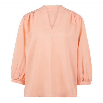 Bluse mit V-Ausschnitt  orange (538 peach) | 36