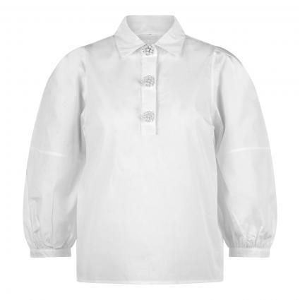 Bluse mit Zierknöpfen weiss (100 white) | M