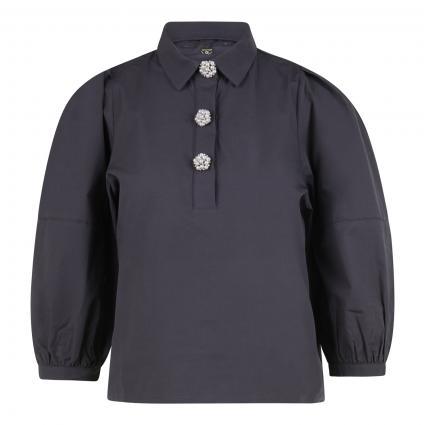Bluse mit Zierknöpfen anthrazit (875 charcoal) | XS