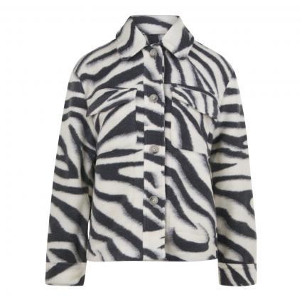 Jacke mit Zebramuster anthrazit (875 charcoal) | 38