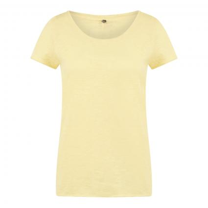 T-Shirt mit weitem Rundhalsausschnitt gelb (316 lemonade) | XS
