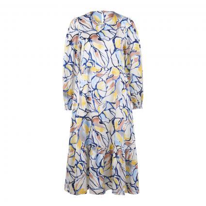 Kleid mit All-Over Print ecru (113 pearl white) | 38