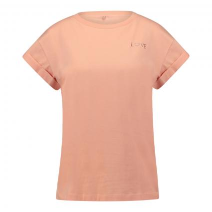 T-Shirt mit Glitzer-Detail orange (538 peach) | M