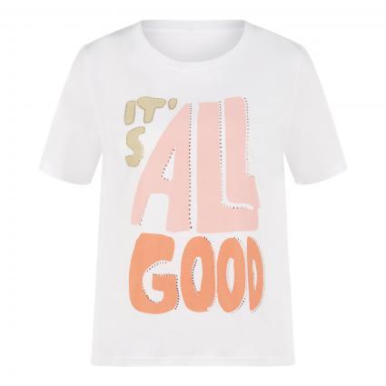 T-Shirt mit Print weiss (100 white) | M