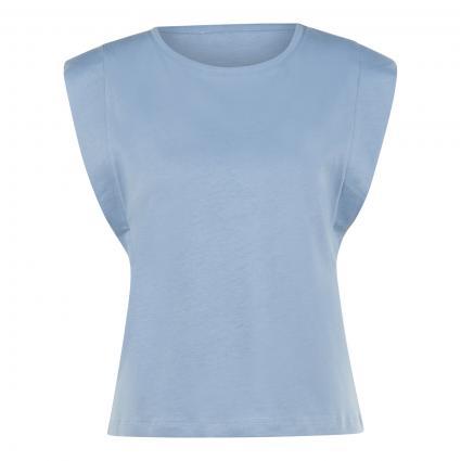 T-Shirt mit Flügelärmeln  blau (756 smoked blue)   L
