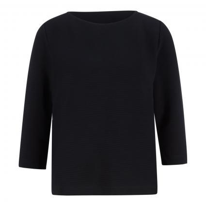 Shirt mit U-Boot Ausschnitt und 3/4 Arm schwarz (0019 schwarz) | 42
