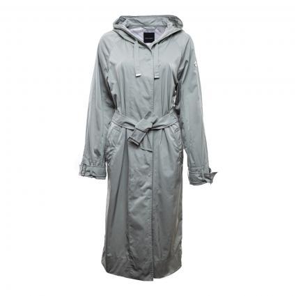 Mantel mit Kapuze und Bindegürtel oliv (0030 SCHILF) | 42