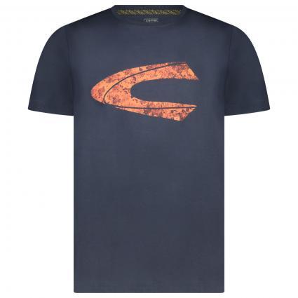 T-Shirt mit frontalem Print  marine (47 night blue) | L