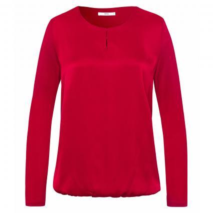 Langarmshirt 'Carla' mit Materialmix rot (40 RED) | 42