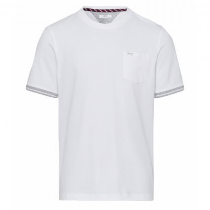 T-Shirt 'Todd' mit Strukturmuster weiss (99 WHITE) | XXL