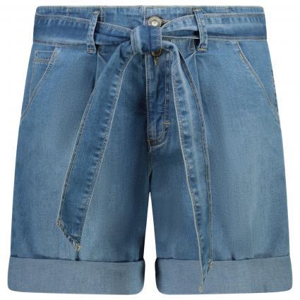 Jeans Bermuda mit Gürtel blau (29 USED LIGHT BLUE) | 38