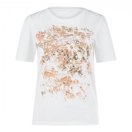 T-Shirt 'Cira' mit platziertem Druck weiss (99 WHITE) | 36