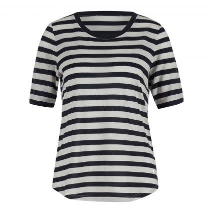 T-Shirt 'Collete' mit Streifenmuster marine (22 NAVY) | 36