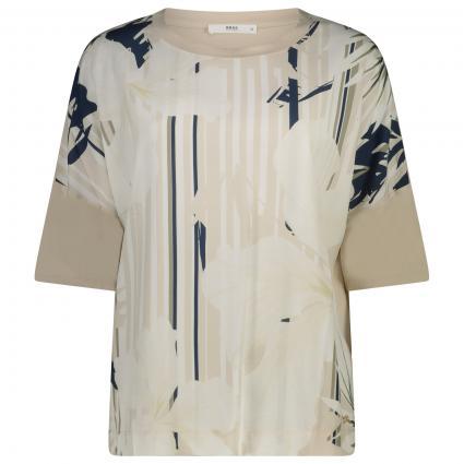 T-Shirt mit Rundhalsausschnitt beige (59 beach) | 36