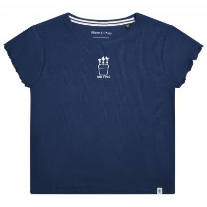 T-Shirt mit frontalem Print blau (619 WASHED BLUE) | 128
