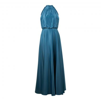Abendkleid aus leichtem Satinstretch türkis (530 grün) | 36