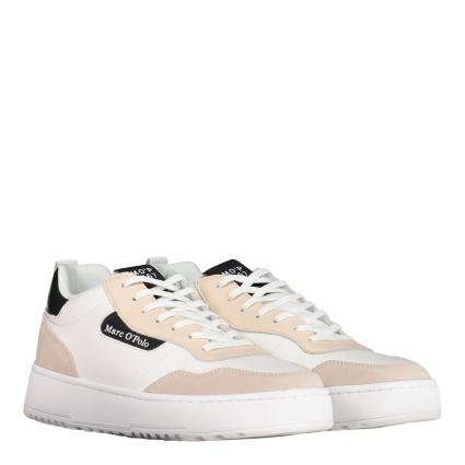 Sneaker aus Material-Mix weiss (127 white/black)   41