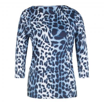 Langarmshirt mit Animal-Print blau (9871 indigo/marine) | 46