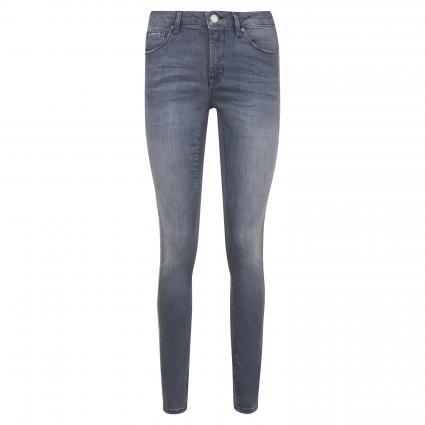 Slim-Fit Jeans 'Elma' mit Leo-Zierstreifen grau (7380 soft grey) | 40