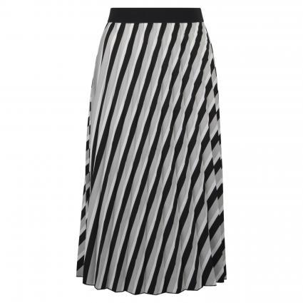 Plisseerock 'Rudy' mit Streifenmuster   schwarz (900 black) | 34