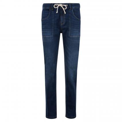 Regular-Fit Jeans 'Lone' mit Kordelzug blau (7391 dark washed blu) | 34
