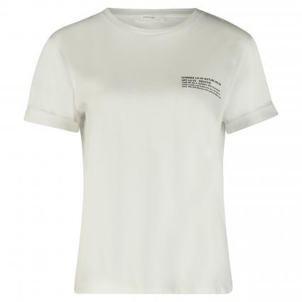 T-Shirt mit Print weiss (010 white)   40