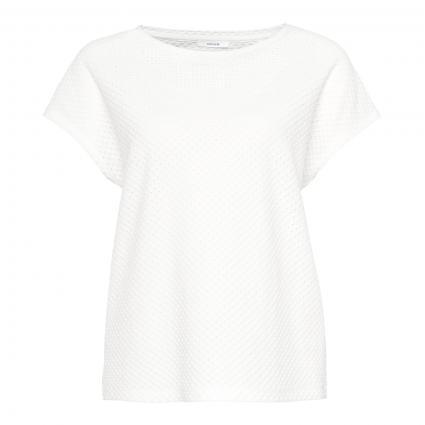 T-Shirt 'Semka' mit Strukturmuster ecru (1004 milk) | 38