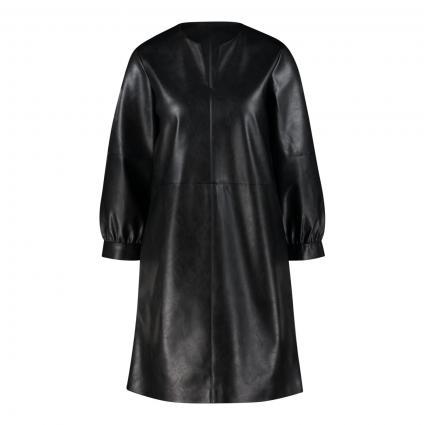 A-Linienkleid 'Waki' aus Lederimitat schwarz (900 black) | 40