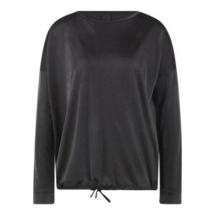Langarmshirt in Glitzer-Optik anthrazit (8055 slate grey mela) | 38