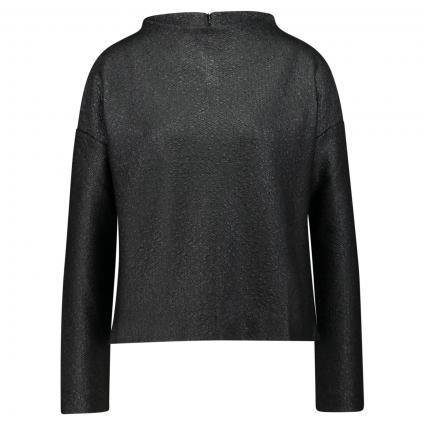 Sweatshirt 'Gasty' gecoatet mit Strukturmuster  schwarz (900 black) | 40