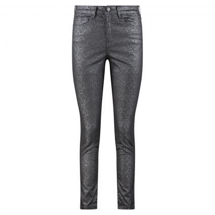 Jeans 'Emily' mit Cristal Snake Muster anthrazit (8055 slate grey mela)   42