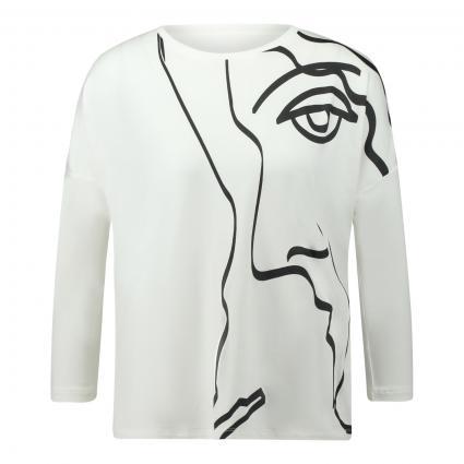 T-Shirt 'Sicaso' mit Print ecru (1004 milk) | 42