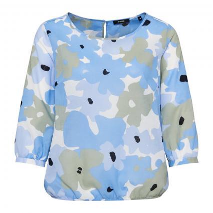 Bluse 'Fu fresh' mit floraler Musterung blau (6081 blue mood)   38