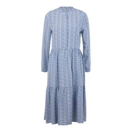 Kleid mit All-Over Blumen Druck blau (6081 blue mood) | 42