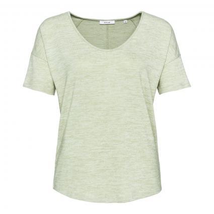 T-Shirt 'Sofiena' mit abgerundetem V-Ausschnitt grün (3057 pistachio) | 40