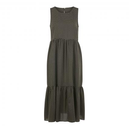 Kleid 'Worta' mit grafischem All-Over Druck schwarz (900 black)   34