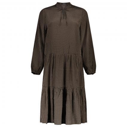 Midi-Kleid mit All-Over Muster beige (2091 maple) | 36