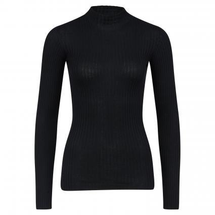 Pullover 'Alaani' mit Stehkragen schwarz (105 black) | XS