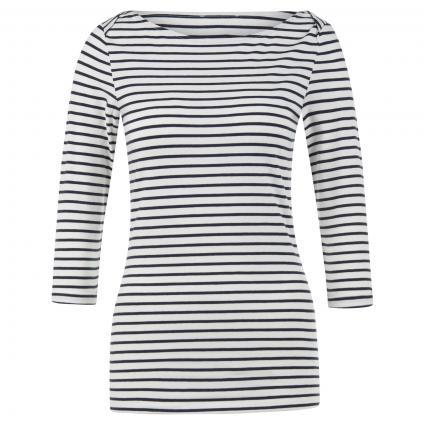 Shirt 'Dalena' mit Streifenmuster ecru (1400 off white-night) | XL